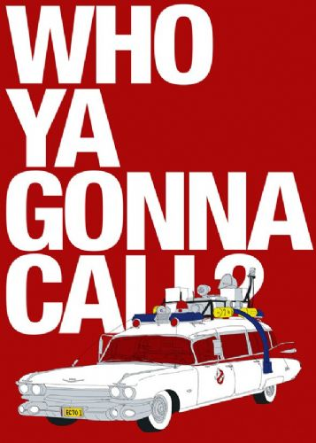 1980's Movie - GHOSTBUSTERS - WHO YA GONNA CALL? canvas print - self adhesive poster - photo print